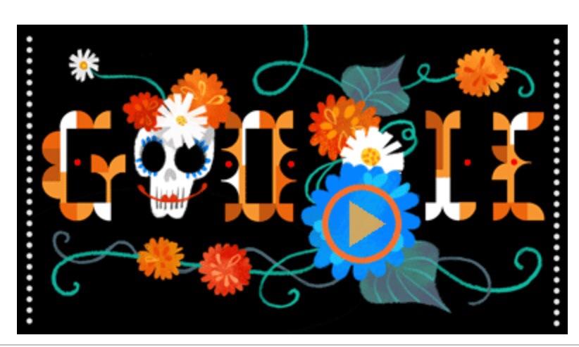 """Google's """"Día de Muertos"""" doodle"""