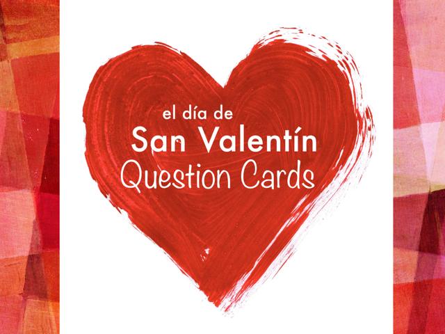 Tarjetas De Preguntas: El Día De San Valentín